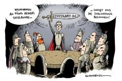 karikatur-schwarwel-stuttgart21-könig-artus