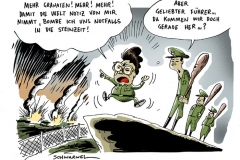 karikatur-schwarwel-granaten-welt-bombe-krieg