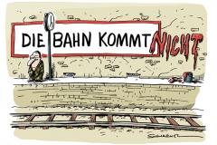 karikatur-schwarwel-bahn-deutsche bahn-zug-verspaetung