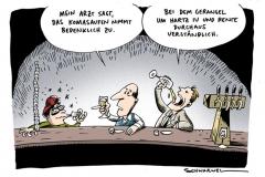 karikatur-schwarwel-komasaufen-arzt-hartz IV-grundeinkommen