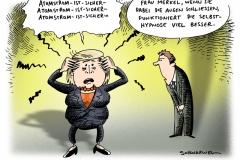 schwarwel-karikatur-atomstrom-atomkraft-ausstieg-merkel-kraftwerk