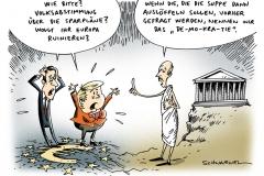 schwarwel-karikatur-volksabstimmung-papandreou-merkelgriechenland-sparplaene