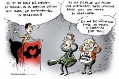 schwarwel-karikatur-kaessmann-merkel-kirchentag-wirtschaft
