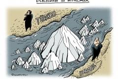 schwarwel-karikatur-israel-tuerkei-eisblockade-mittelmeer