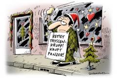 schwarwel-karikatur-krupp-thyssen-panzer
