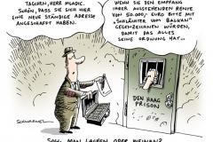 schwarwel-karikatur-den haag-prison-mladic
