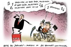 schwarwel-karikatur-halbstark-popstar-big brother-regierungskoalition