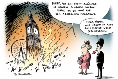 schwarwel-karikatur-london-krawall-tod-demonstrant