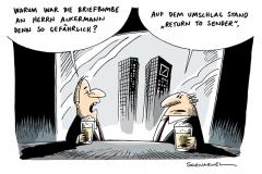 schwarwel-karikatur-briefbombe-sender-bank-ackermann