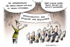 schwarwel-karikatur-gurke-krisentreffen-vegan-vegetarisch