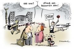 schwarwel-karikatur-streik-flug-urlaub-lufthansa