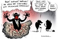 schwarwel-karikatur-ezb-finanzen-dimension-bank