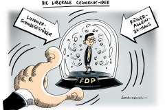 schwarwel-karikatur-roesler-fdp-partei-geschenk