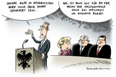 schwarwel-karikatur-merkel-fdp-westerwelle-afghanistan-ausland