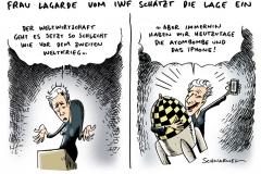 schwarwel-karikatur-iwf-lagarde-einschaetzung-weltwirtschaft