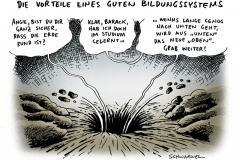schwarwel-karikatur-bildungssystem-wirtschaftskrise-merkel-obama