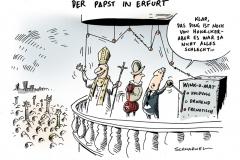 schwarwel-karikatur-papst-besuch-berlin-freiburg-erfurt