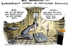 schwarwel-karikatur-wulff-bundespraesident-weihnachten-fest-vergessen