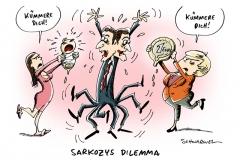 schwarwel-karikatur-sarkozy-dilemma-euro-krise