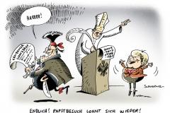 schwarwel-karikatur-besuch-papstbesuch-deutschland-merkel-