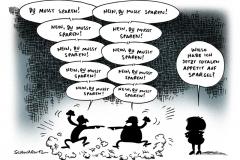 schwarwel-karikatur-euro-eurozone-spardebatte