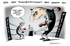 schwarwel-karikatur-kampf-g20-finanzwirtschaft-kampfansage
