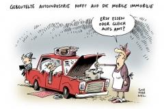schwarwel-karikatur-auto-autoindustrie-arbeitsamt-mobil