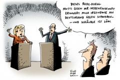 schwarwel-karikatur-duell-nebeneinkuenfte-rededuell-mutti