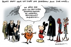 schwarwel-karikatur-disney-spyderman-kaspertheater