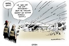schwarwel-karikatur-gaza-tod-twitter-zerstoerung