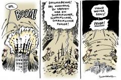 schwarwel-karikatur-gaza-angriff-feuer-wohnhaus
