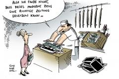 schwarwel-karikatur-zeitung-tablet-computer
