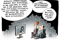 schwarwel-karikatur-tatort- klimawandel-israel-tagesschau-bundesregierung-