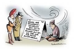 schwarwel-karikatur-arm-altersarmut-reich