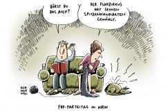 schwarwel-karikatur-flohzirkus-fdp-nrw-parteitag