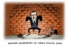 schwarwel-karikatur-assad-syrien-hintertuerchen-russland
