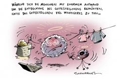 schwarwel-karikatur-higgs-gottesteilchen-peter