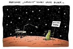 schwarwel-karikatur-curiosyti-marssonde-forschung