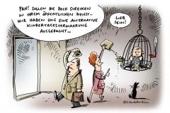 schwarwel-karikatur-streik-kita-lohn-gehalt