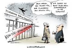 schwarwel-karikatur-tuev-flughafen-berlin-brandenburg-luxusprobleme