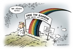 schwarwel-karikatur-rainbow-regenbogen-merkel-himmel