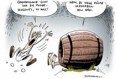 schwarwel-karikatur-tonne-griechenland-diogenes