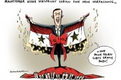 schwarwel-karikatur-assad-machthaber-syrien-verfassung