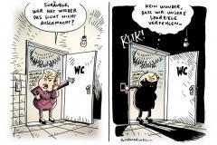 schwarwel-karikatur-sparziele-verfehlung-merkel-bundesregierung
