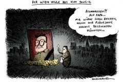 schwarwel-karikatur-kim-jong-il-atomwaffen-testament-japan