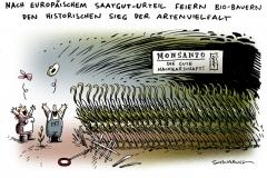 schwarwel-karikatur-saatgut-artenvielfalt-bauern-monsanto-urteil-landwirtschaft