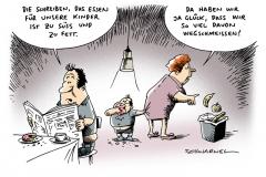 schwarwel-karikatur-essen-kinder-ernaehrung-familie