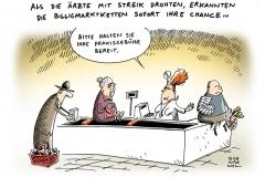 schwarwel-karikatur-arzt-praxisgebuehr-billigmarkt