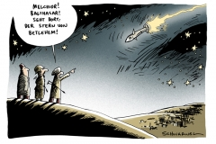 schwarwel-karikatur-israel-angriff-iran-brand