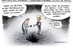 schwarwel-karikatur-lebensleistung-von der leyen-ministerin-rentenversicherung